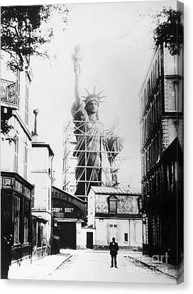 Statue Of Liberty, Paris Canvas Print by Granger