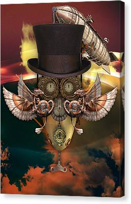Steampunk Art Canvas Print by Marvin Blaine