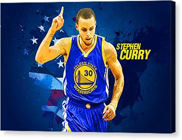 Lebron Canvas Print - Stephen Curry by Semih Yurdabak