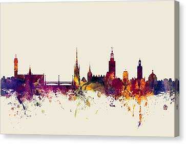 Stockholm Sweden Skyline Canvas Print