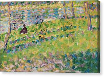 Dappled Light Canvas Print - Study For Sunday Afternoon On The Island Of La Grande Jatte by Georges Pierre Seurat