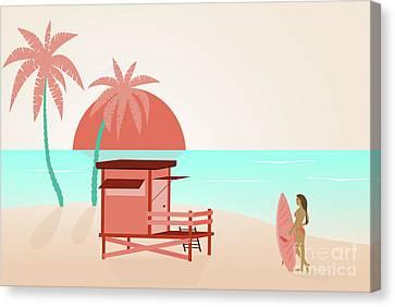 Summer At The Beach Canvas Print by PhotoGranary