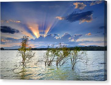 Water Canvas Print - Sunrays by Guido Montanes Castillo