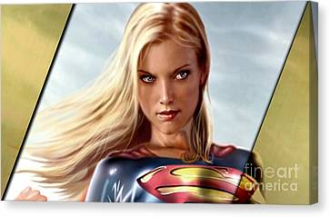 Supergirl Collection Canvas Print by Marvin Blaine