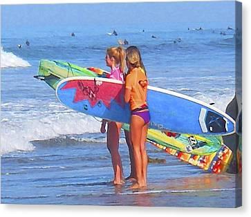 3 Surf Amigas Canvas Print by Waterdancer
