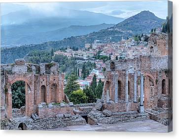 Taormina - Sicily Canvas Print by Joana Kruse