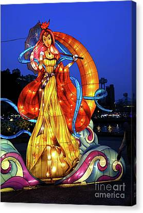 Canvas Print featuring the photograph The 2017 Lantern Festival In Taiwan by Yali Shi