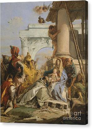 The Adoration Of The Magi Canvas Print by Giovanni Battista Tiepolo