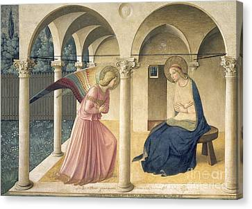 The Annunciation Canvas Print by Fra Angelico
