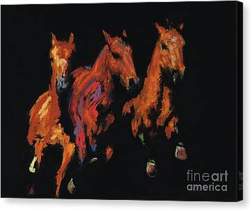 The Competitive Edge Canvas Print by Frances Marino