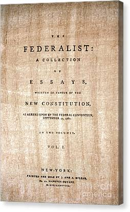 The Federalist, 1788 Canvas Print by Granger