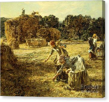 The Gleaners Canvas Print by Leon Augustin Lhermitte