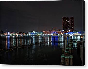 Canvas Print featuring the photograph The Harbor View by Mark Dodd