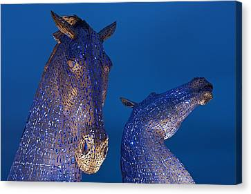 The Kelpies Canvas Print by Stephen Taylor