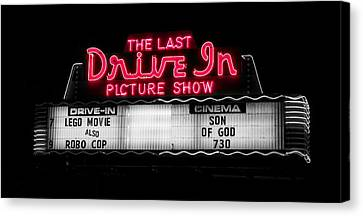 The Last Drive In Picture Show Canvas Print