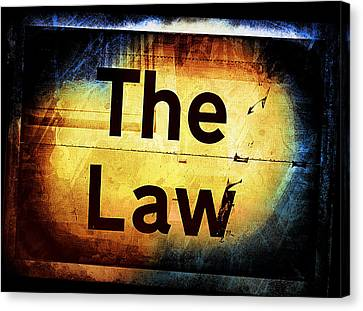 Punishment Canvas Print - The Law by Tom Gowanlock
