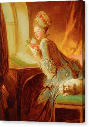 Canvas Print featuring the painting The Love Letter by Jean Honore Fragonard