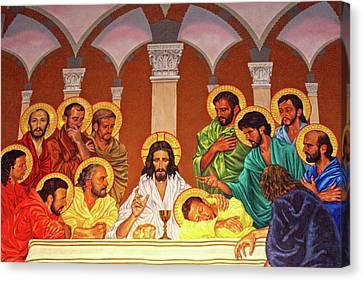 Last Supper Canvas Print - The Meeting by Munir Alawi