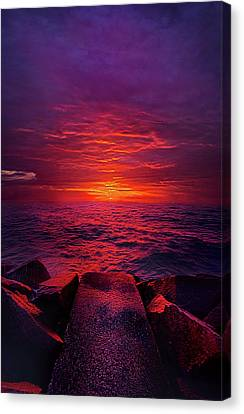 Canvas Print featuring the photograph The Path by Phil Koch