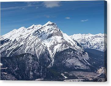 Canvas Print featuring the photograph The Rockies Landscape by Josef Pittner