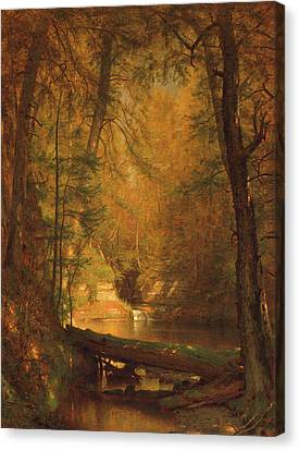 The Trout Pool Canvas Print by Worthington Whittredge