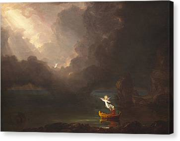 The Voyage Of Life Old Age Canvas Print