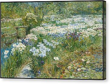 The Water Garden Canvas Print by Childe Hassam