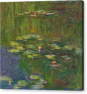 The Water Lily Pond Canvas Print by Claude Monet