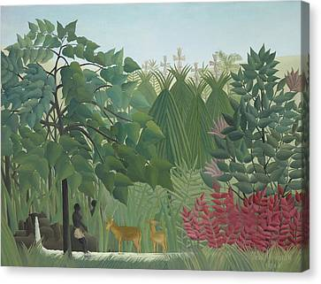 The Waterfall Canvas Print by Henri Rousseau
