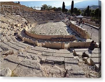 Greek Canvas Print - Theater Of Dionysus by George Atsametakis
