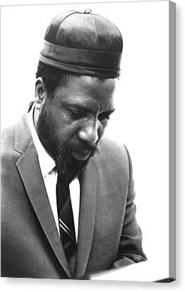 Thelonius Monk 1917-1982jazz Pianist Canvas Print by Everett