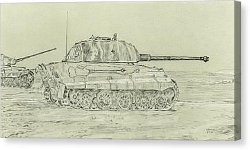 Ww Ii Canvas Print - Tiger II by Dennis Larson