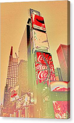Times Square Canvas Print - Times Square by Erin Cadigan