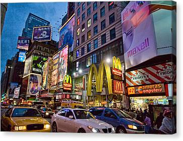 Times Square Canvas Print by June Marie Sobrito