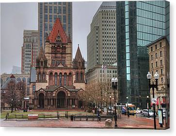 Canvas Print featuring the photograph Trinity Church - Copley Square - Boston by Joann Vitali
