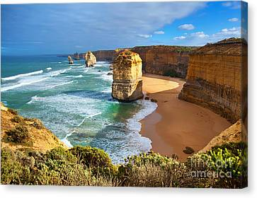 Twelve Apostles Great Ocean Road Canvas Print by Bill  Robinson