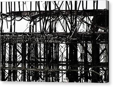 Industrial Background Canvas Print - Twisted Metal by Martin Newman
