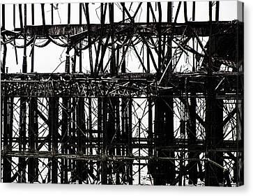 Titanium White Canvas Print - Twisted Metal by Martin Newman