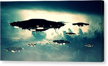 Ufo Invasion Force Canvas Print