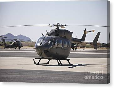 Uh-72 Lakota Helicopter At Pinal Canvas Print by Terry Moore