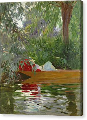 Under The Willows Canvas Print by John Singer Sargent