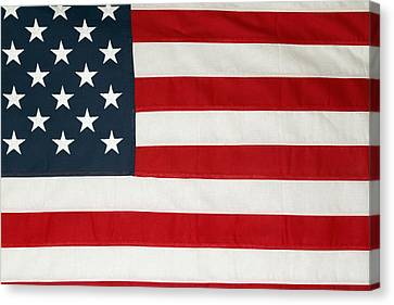 U.s. Flag Canvas Print by Les Cunliffe