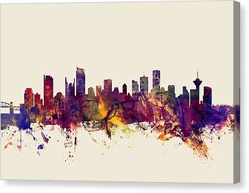 Vancouver Canada Skyline Canvas Print by Michael Tompsett