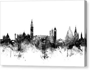 Venezia Canvas Print - Venice Italy Skyline by Michael Tompsett