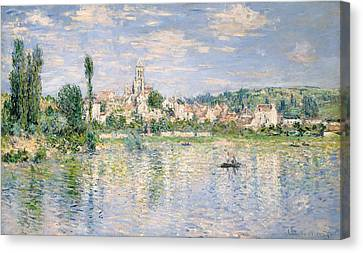 Vetheuil In Summer Canvas Print