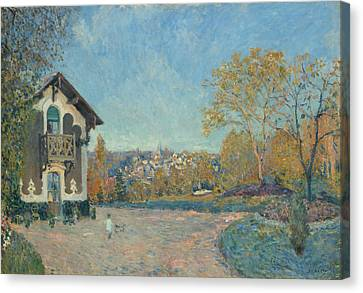 View Of Marly-le-roi From Coeur-volant Canvas Print by Alfred Sisley