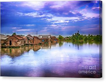 Canvas Print featuring the photograph Village by Charuhas Images