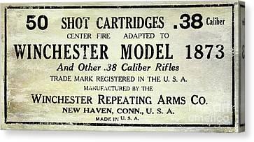 Vintage Ammunition Sign Canvas Print by Jon Neidert