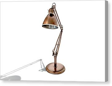 Vintage Copper Desk Lamp Canvas Print by Allan Swart