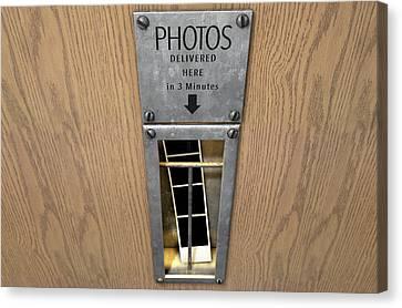 Vintage Photo Booth Pickup Slot Canvas Print by Allan Swart